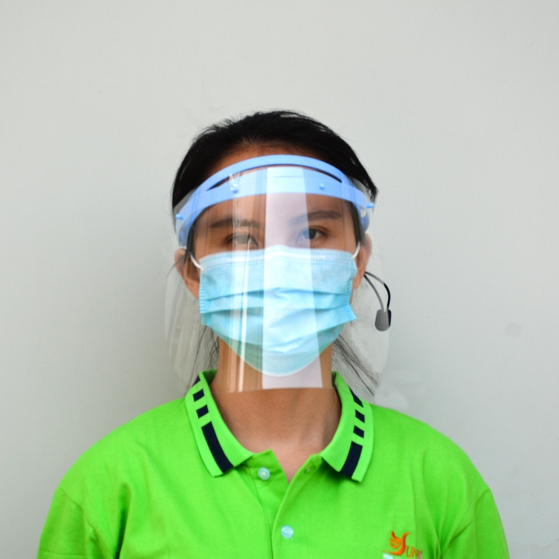 0.25mm Disposable Protective Face Shield Guard For Children