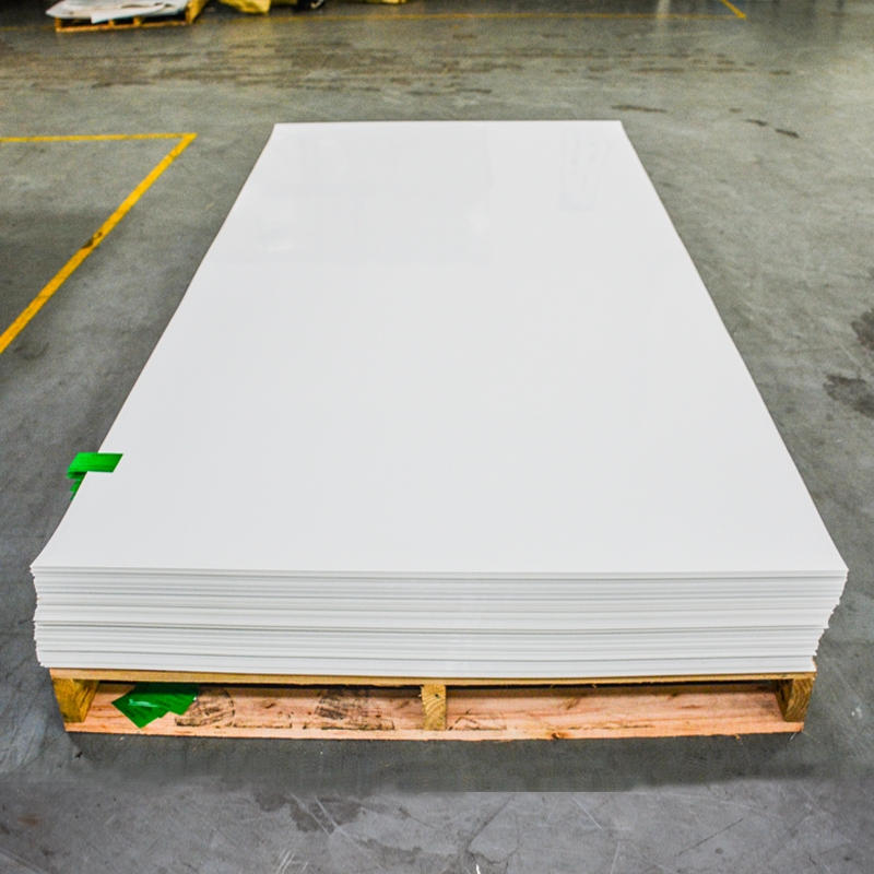 New Building Materials Custom plastic White Color Anti-scratch Decoration Panel PETG Sheet For Kitchen Cabinet