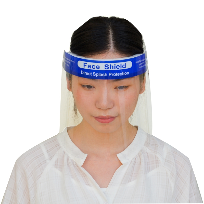 0.25mm Anti Splash Disposable Safety Transparent PET Face Shield