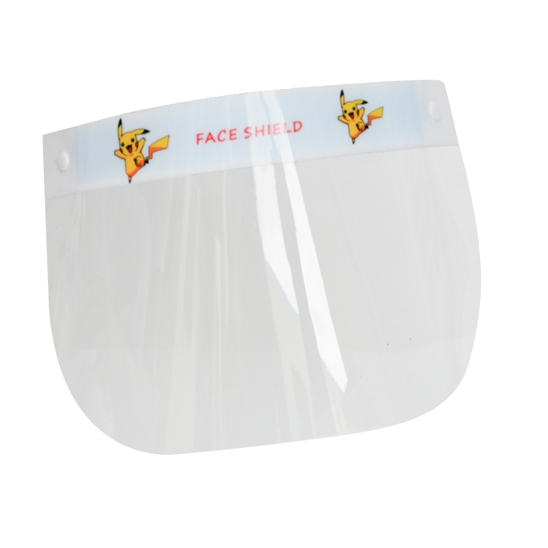Cartoon Character Children Transparent Protective Plastic Face Shield For Kids